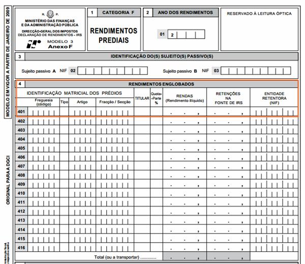 Entrega IRS 2012 Arrendamento Anexo F